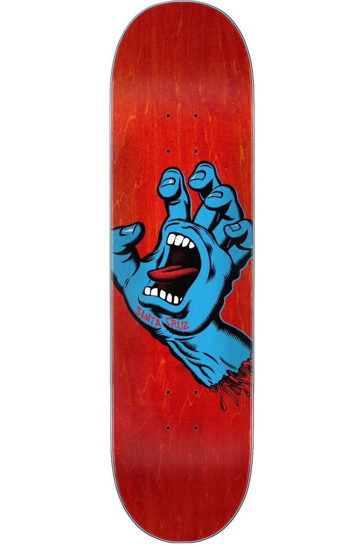 "Santa Cruz Skate Board 8"" X 31.6"" SCREAMING HAND Assorted"