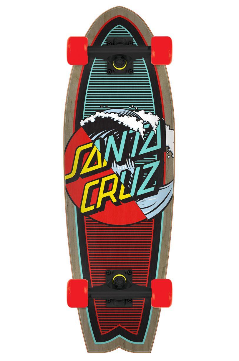"Cruiser Skate Santa Cruz 8.8"" X 27.7"" CLASSIC WAVE SPLICE Assorted"