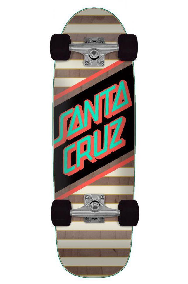 """Santa Cruz Cruiser Skate 8.79"""" X 29.05"""" STREET SKATE Multi"""