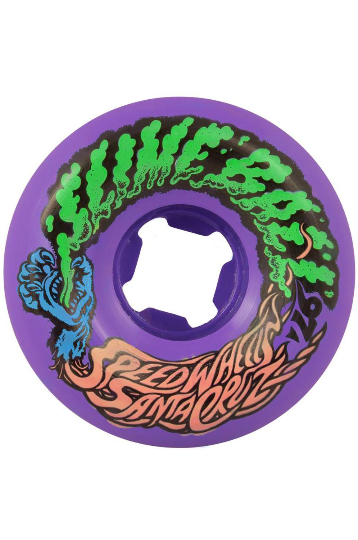 Santa Cruz Skate Wheels 53MM SLIME BALLS VOMIT MINI Purple