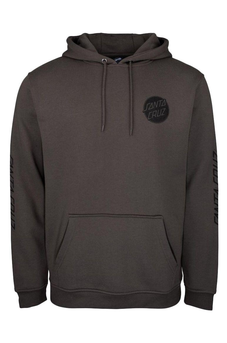 Santa Cruz Sweat Hood CONTRA DOT MONO Washed Black