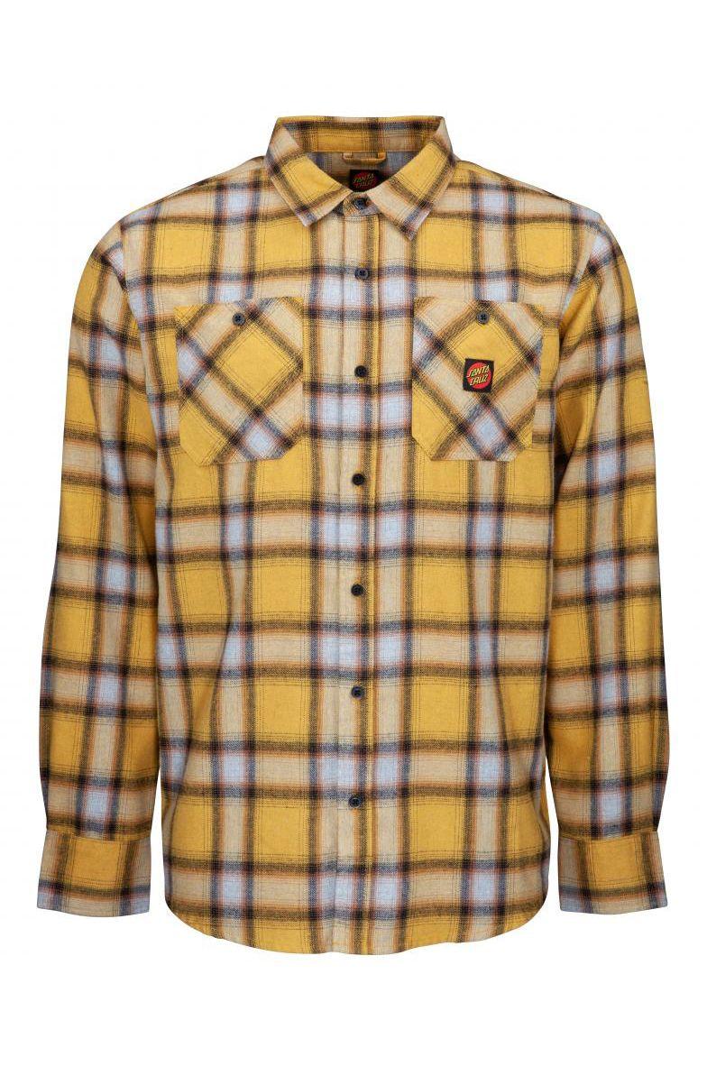 Camisa Santa Cruz APEX SHIRT Mustard Check