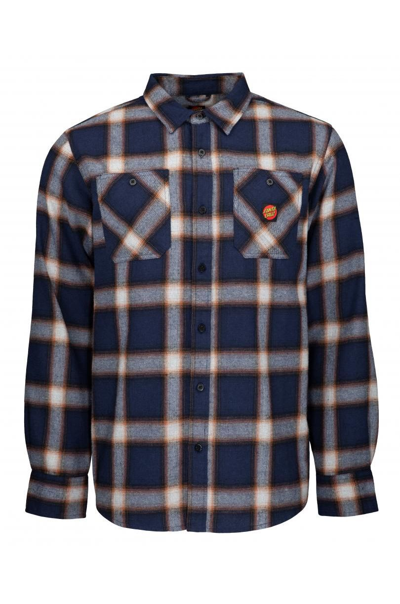 Camisa Santa Cruz APEX SHIRT Dark Navy Check