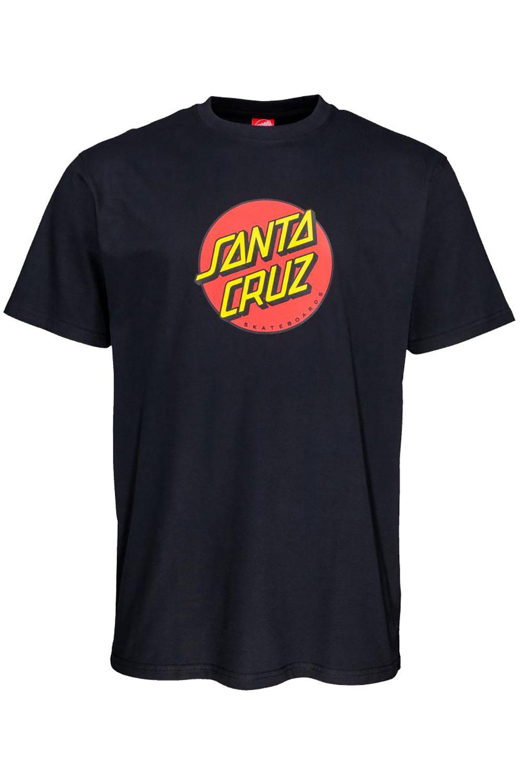 Santa Cruz T-Shirt NEW CLASSIC DOT Black