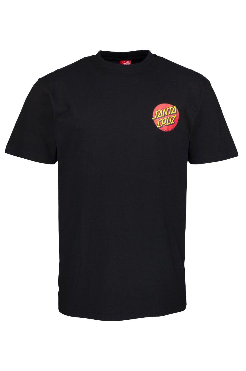 Santa Cruz T-Shirt CLASSIC DOT CHEST Black