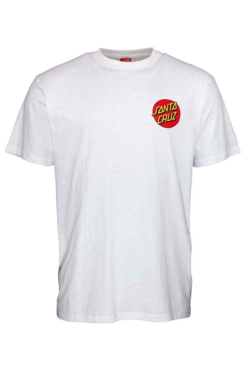 Santa Cruz T-Shirt CLASSIC DOT CHEST White