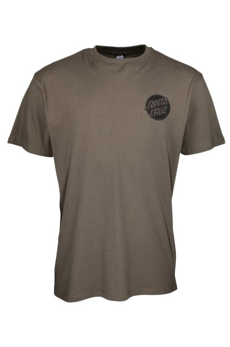 T-Shirt Santa Cruz CONTRA DOT MONO Washed Black