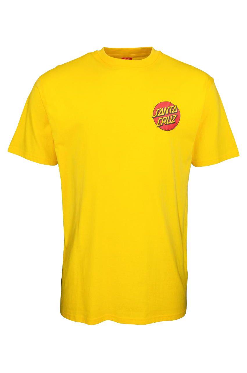 Santa Cruz T-Shirt CLASSIC DOT CHEST Blazing Yellow