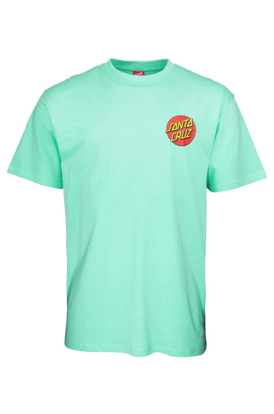 Santa Cruz T-Shirt CLASSIC DOT CHEST Jade Green