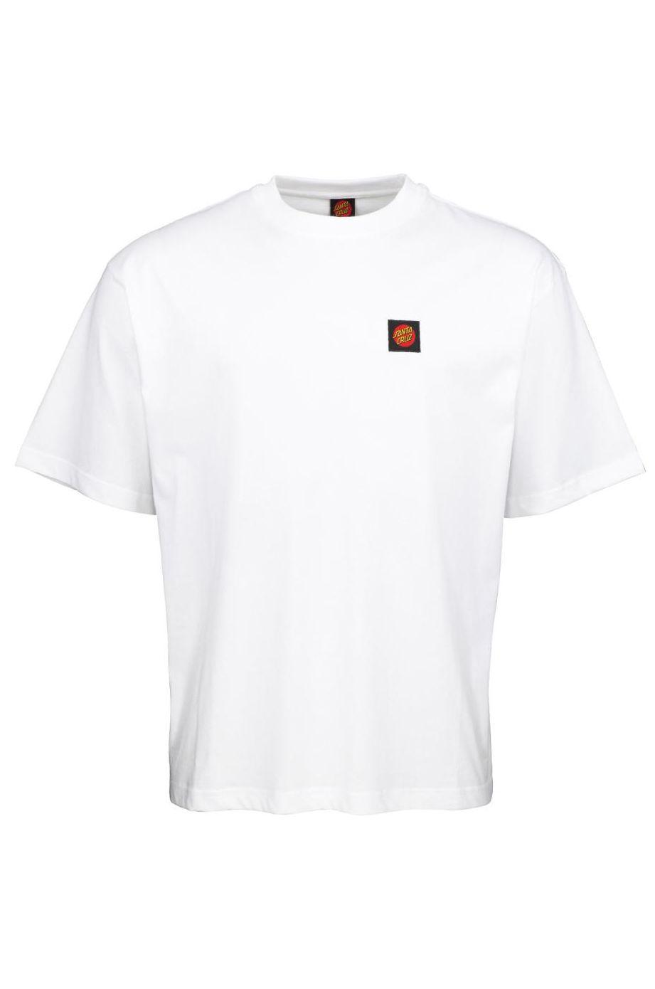 T-Shirt Santa Cruz CLASSIC LABEL White