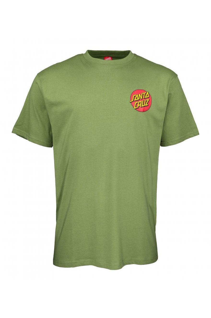 T-Shirt Santa Cruz CLASSIC DOT CHEST Dill Green