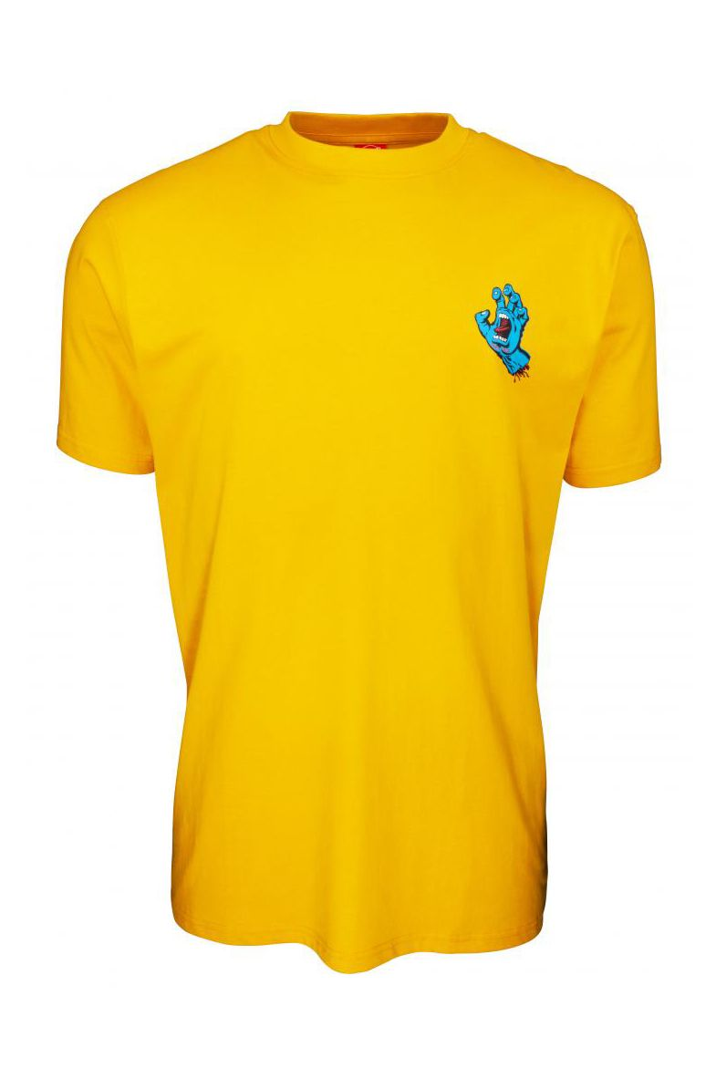 T-Shirt Santa Cruz SCREAMING HAND CHEST Mustard