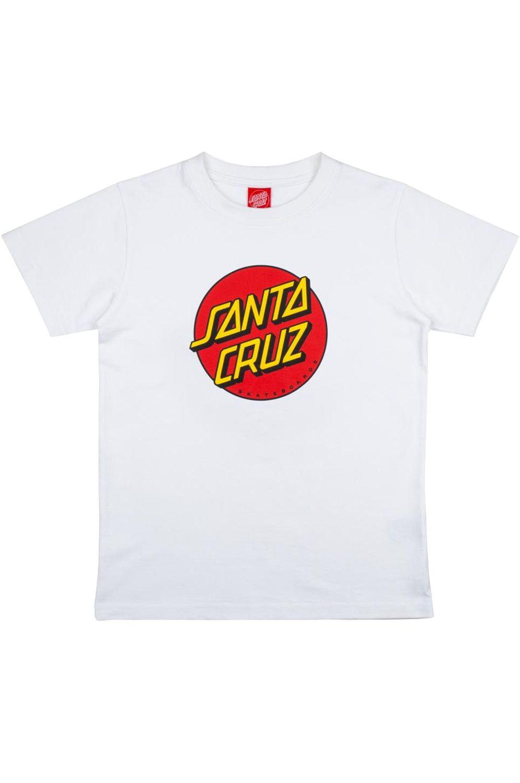 Santa Cruz T-Shirt YOUTH CLASSIC DOT White