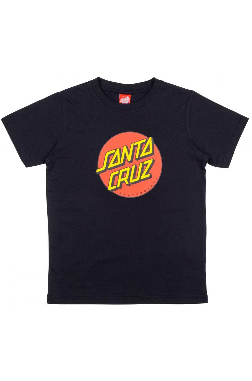 Santa Cruz T-Shirt NEW YOUTH CLASSIC DOT Black