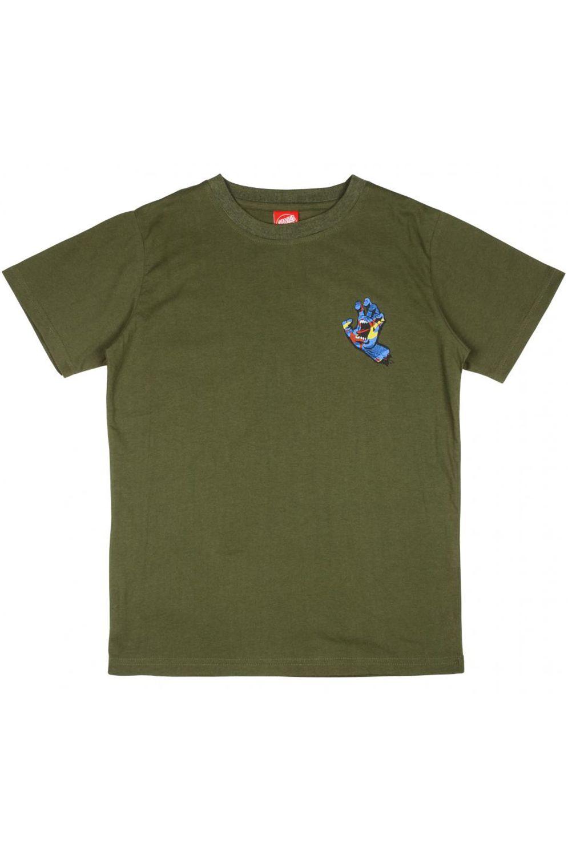 Santa Cruz T-Shirt YOUTH PRIMARY HAND Olive
