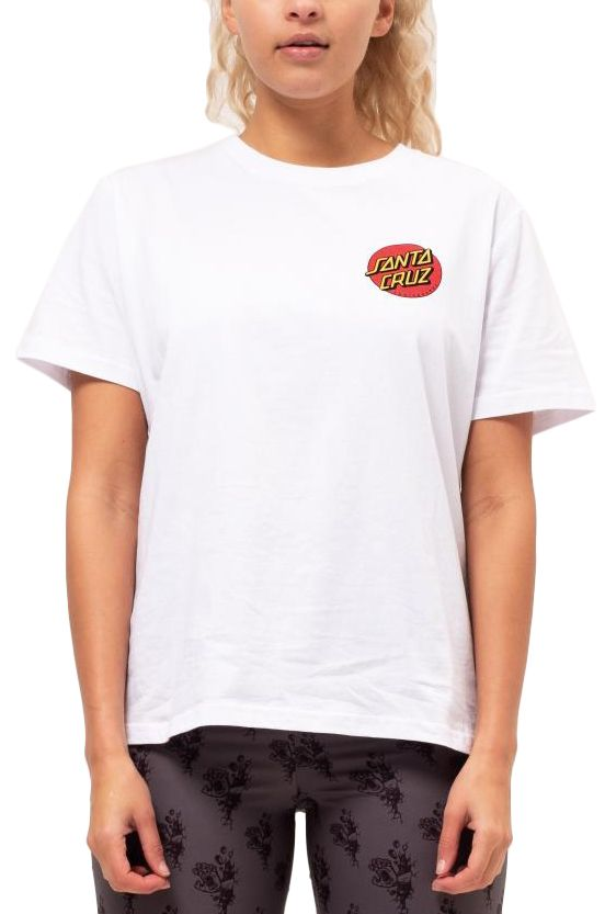 T-Shirt Santa Cruz CLASSIC DOT T-SHIRT White