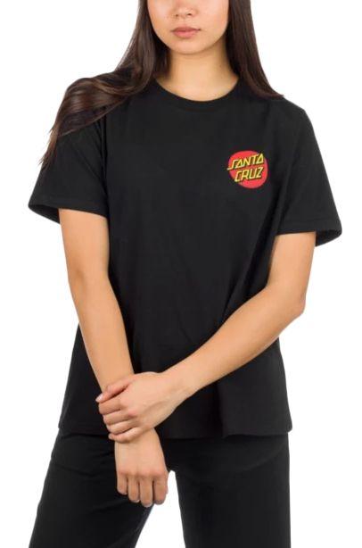 T-Shirt Santa Cruz CLASSIC DOT T-SHIRT Black
