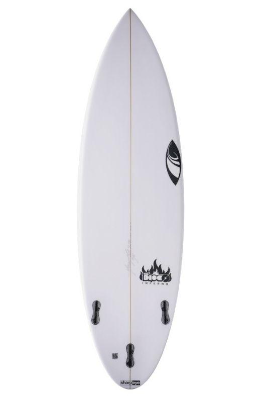 Prancha Surf Sharpeye DISCO INFERNO 5'8 Round Tail - White FCS II 5ft8
