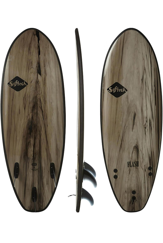 Prancha Surf Softech FLASH FCS II 5ft7 BLACK MARBLE Squash Tail - Color FCS II 5ft7