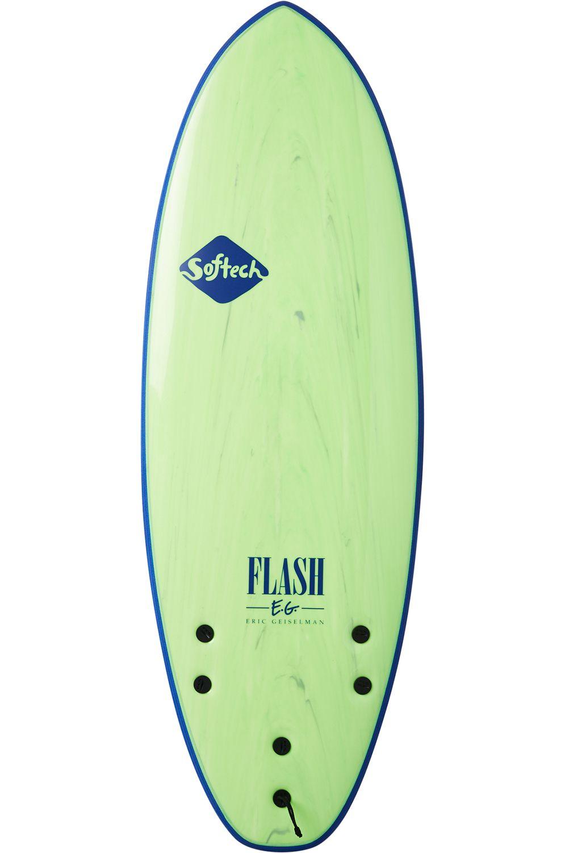 Prancha Surf Softech 5'0 FLASH ERIC GEISELMAN FCS II GREEN MARBLE Squash Tail - Color FCS II 5ft0