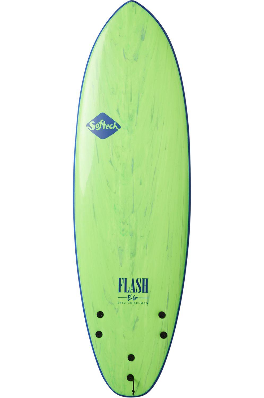 Prancha Surf Softech 5'7 FLASH ERIC GEISELMAN FCS II GREEN MARBLE Squash Tail - Color FCS II 5ft7