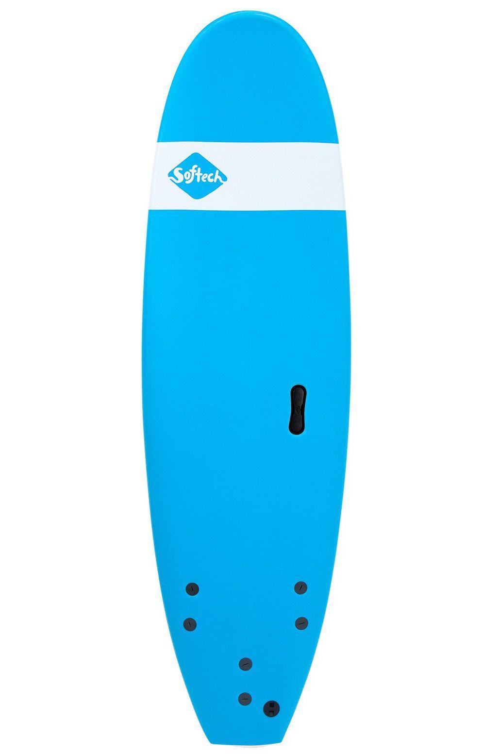 Prancha Surf Softech 8'0 ROLLER BLUE Square Tail - Color FCS 8ft0