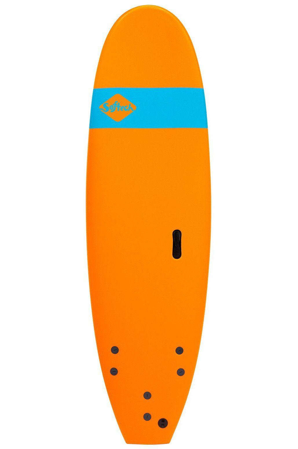 Prancha Surf Softech 8'0 ROLLER ORANGE Square Tail - Color FCS 8ft0