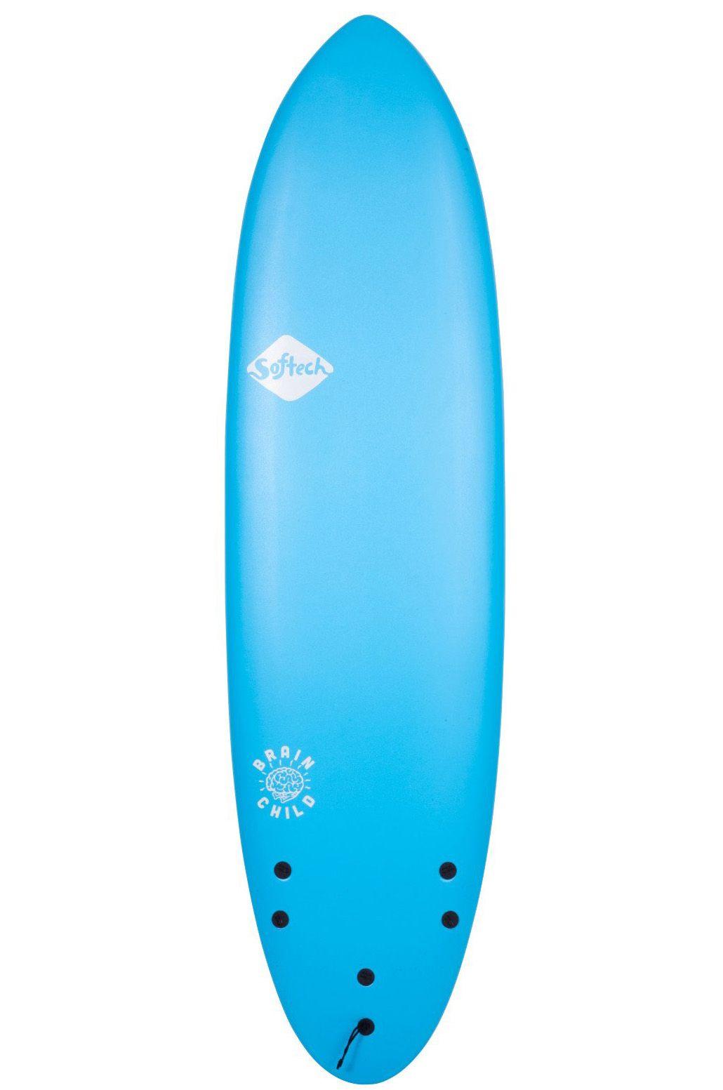 Prancha Surf Softech 5'8 BRAINCHILD FCS II BLUE Round Tail - Color FCS II 5ft8