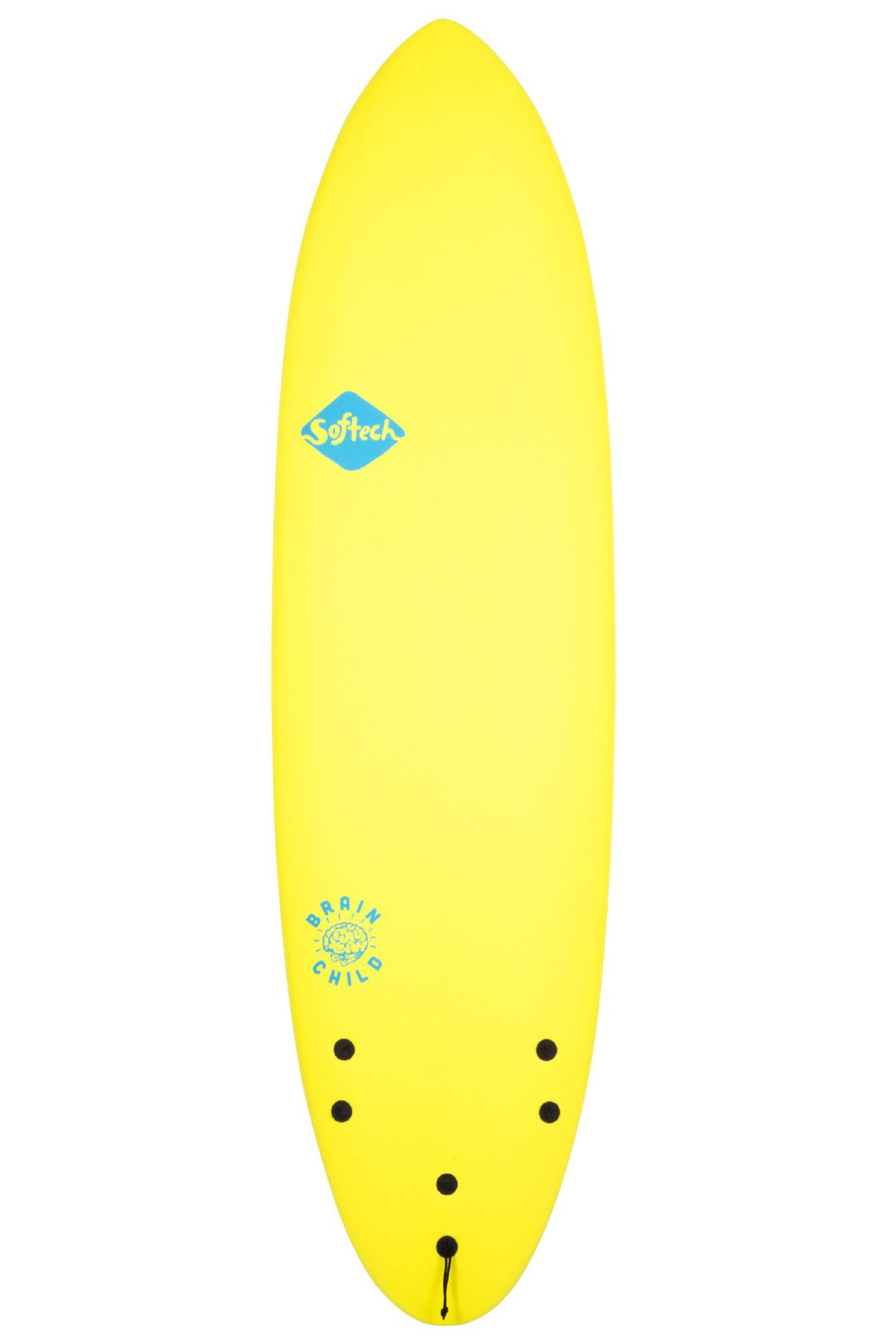 Prancha Surf Softech 6'3 BRAINCHILD FCS II ICE YELLOW Round Tail - Color FCS II 6ft3