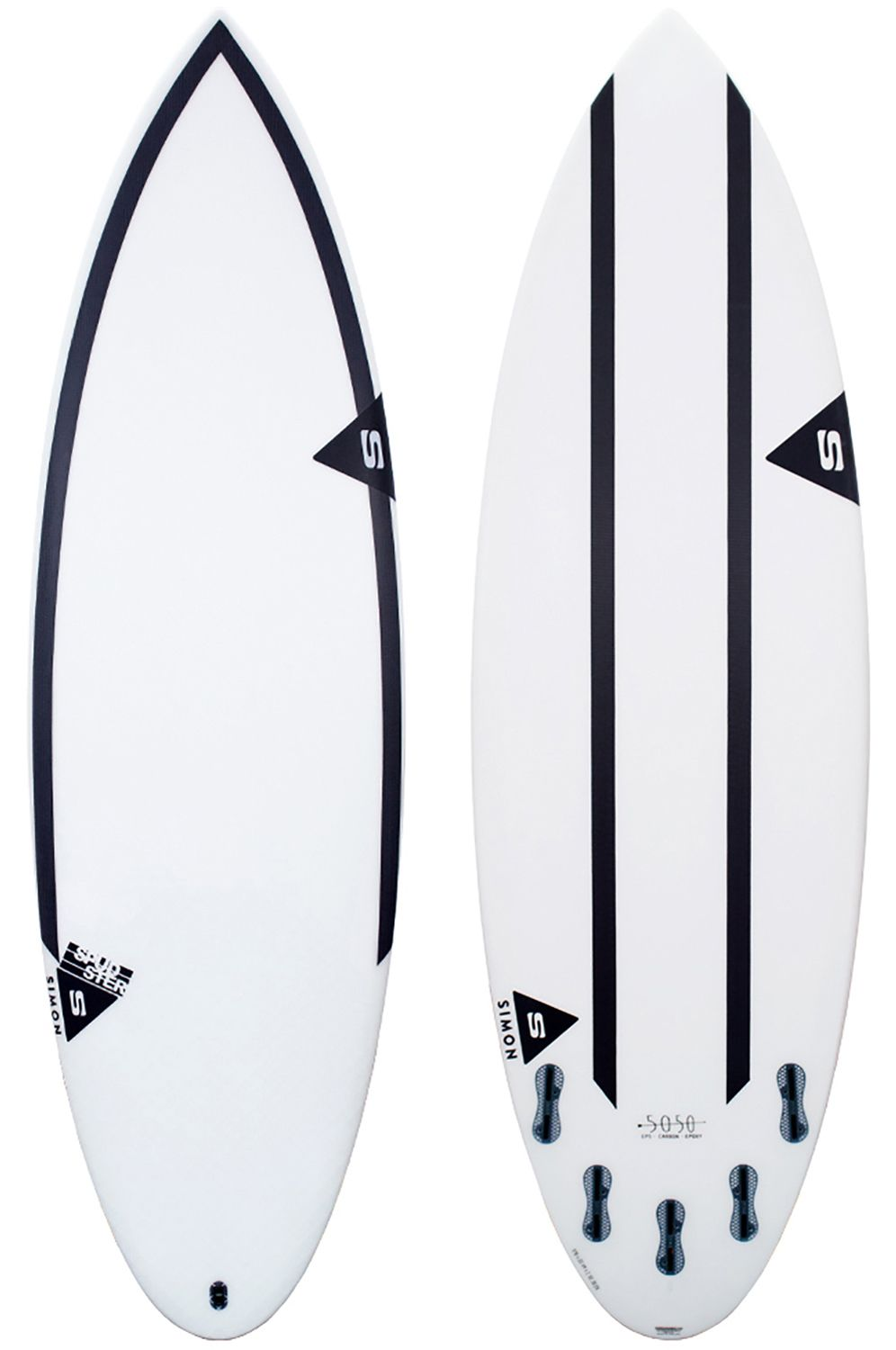 Prancha Surf Simon Anderson SPUDSTER 5'6 Round Tail - White FCS II Multisystem 5ft6
