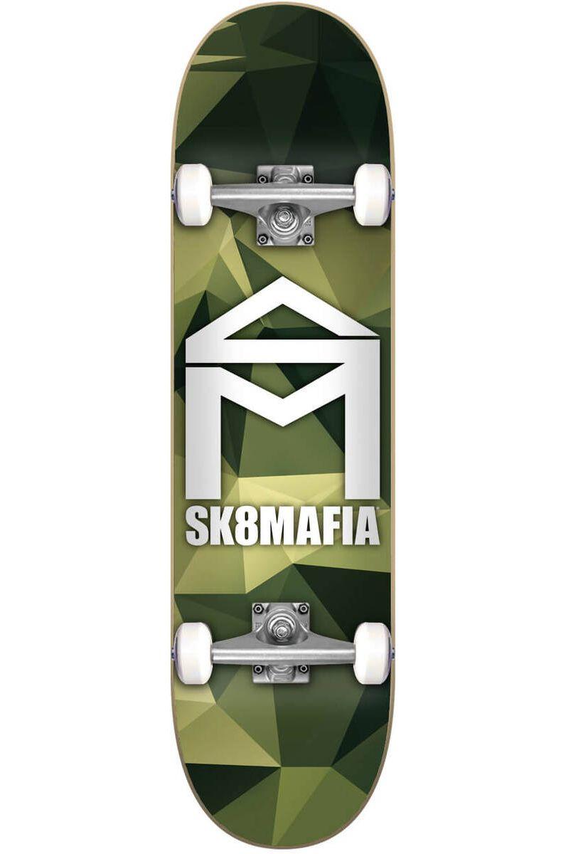 """Sk8Mafia Skate 7.87"""" X 31.6"""" HOUSE LOGO CAMO GREEN Assorted"""