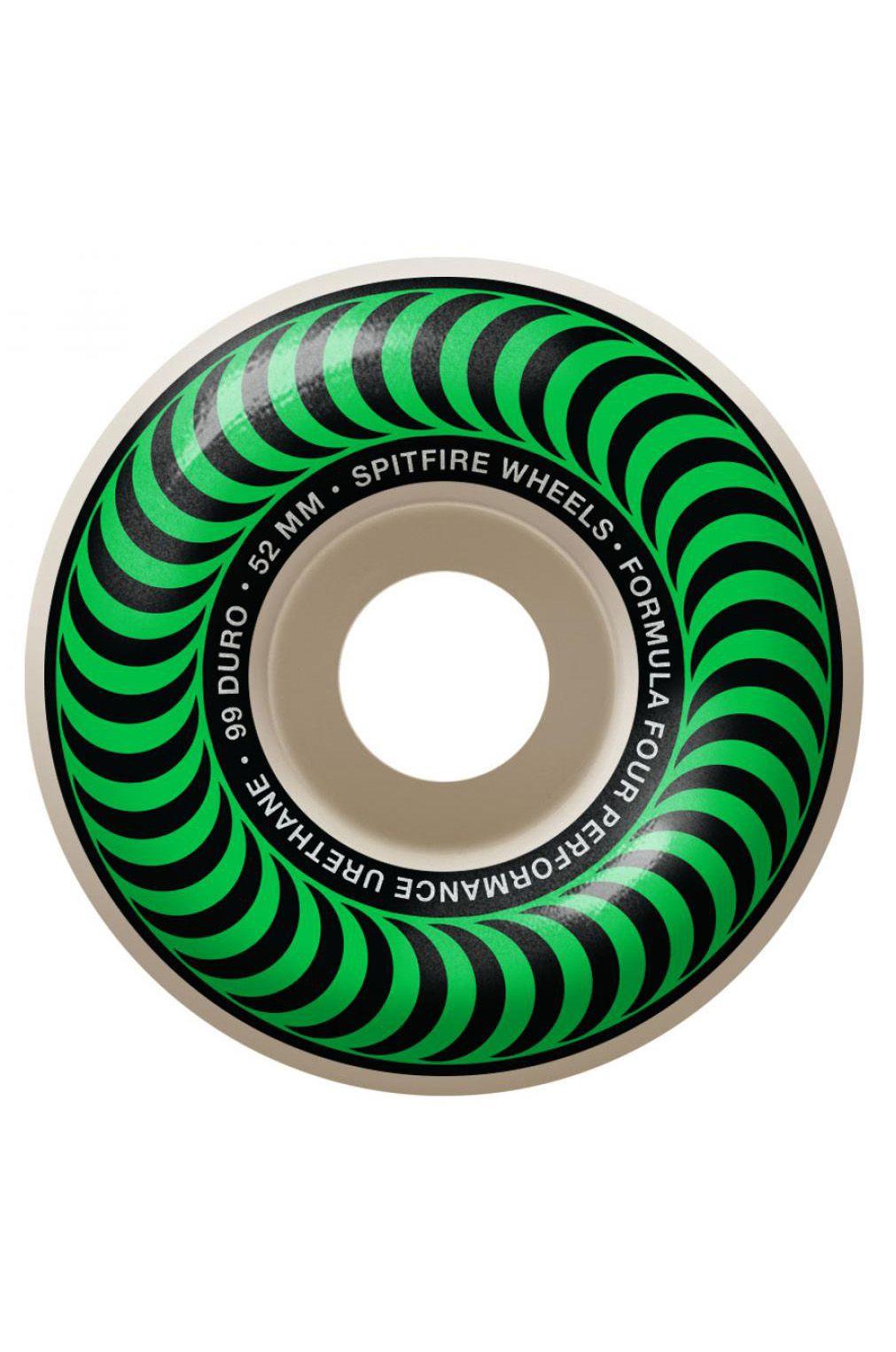 Spitfire Skate Wheels 52MM CLASSICS 99 Green