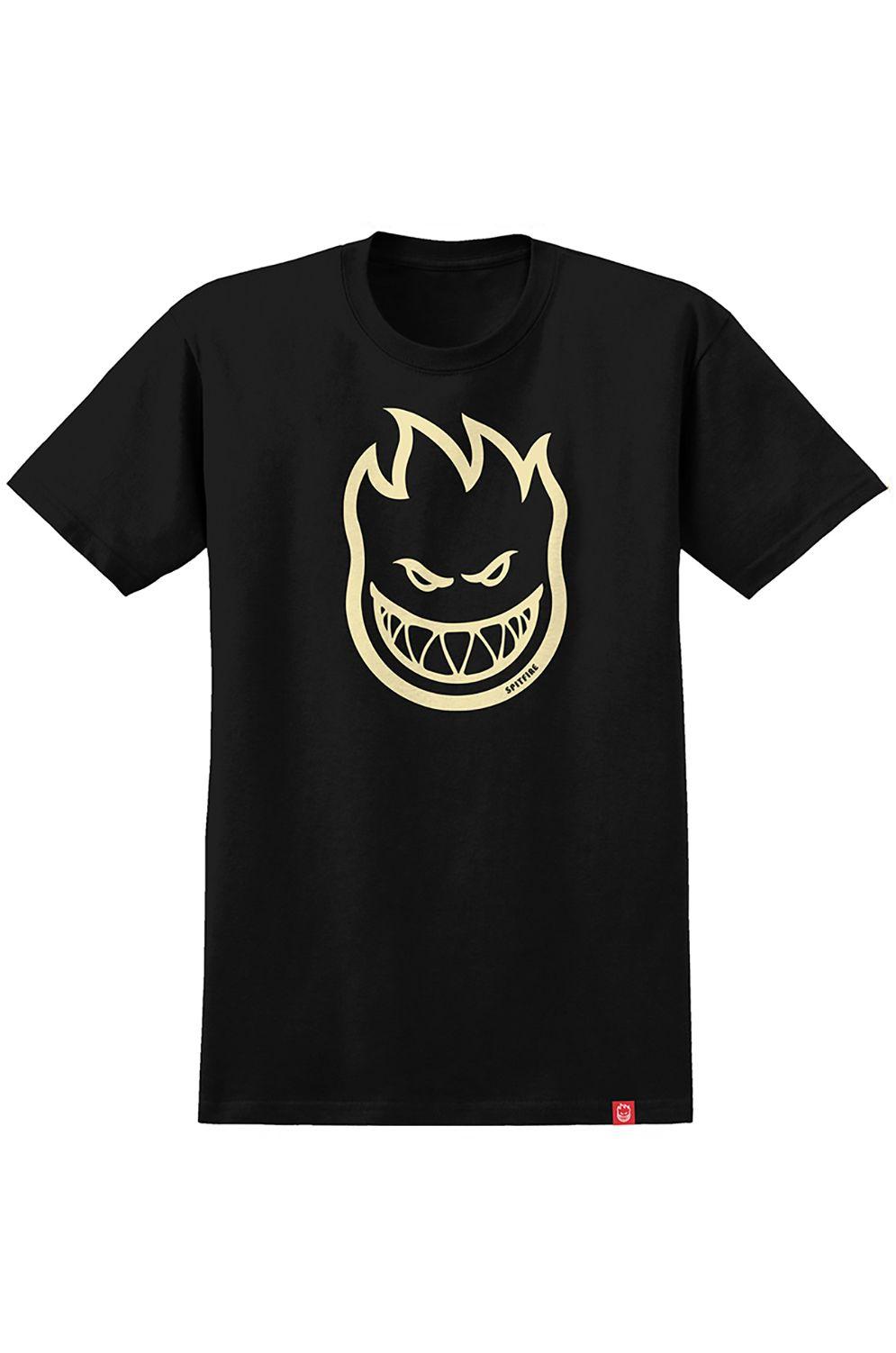 Spitfire T-Shirt BIGHEAD Black W/ Raw Discharge