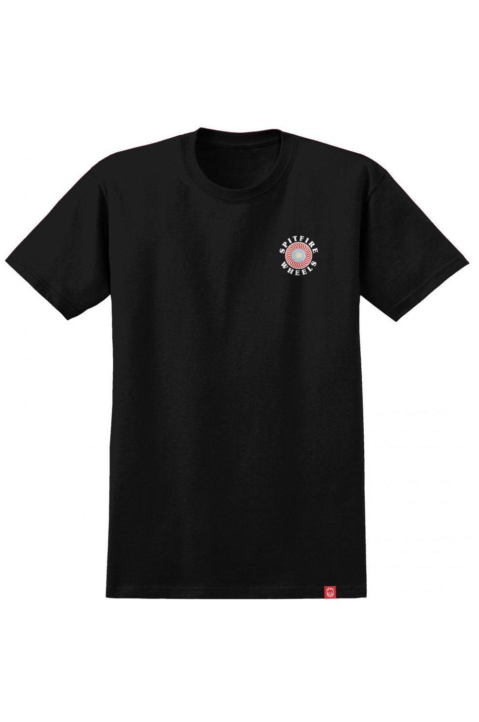 Spitfire T-Shirt OG CLASSIC FILL Black/Multi-Colored