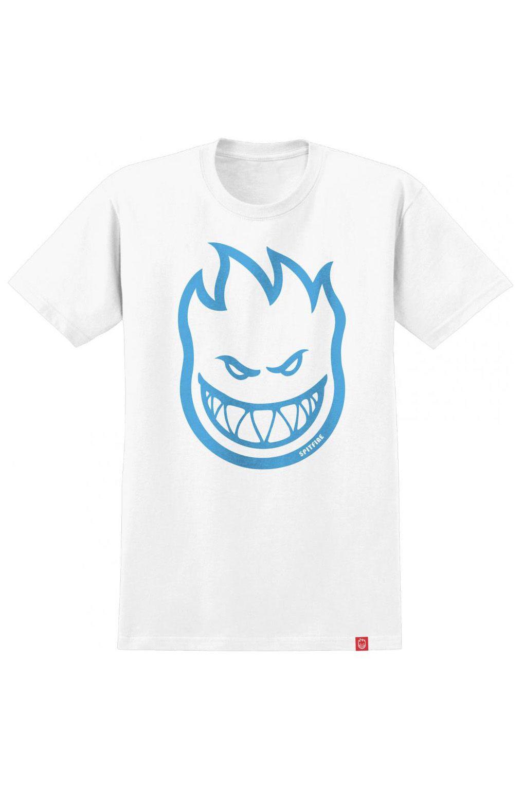 Spitfire T-Shirt BIGHEAD White/Lt Blue