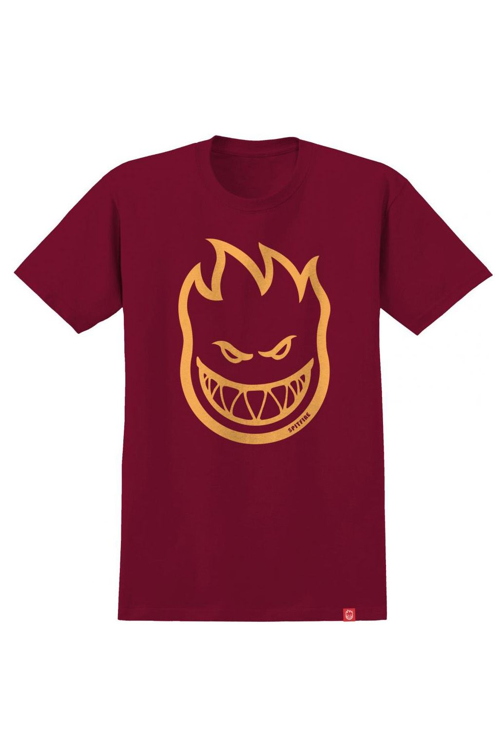 Spitfire T-Shirt BIGHEAD Cardinal/Orange