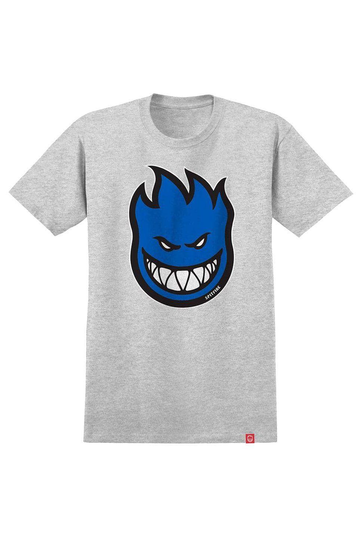 Spitfire T-Shirt BIGHEAD FILL Athletic Heather/Blue