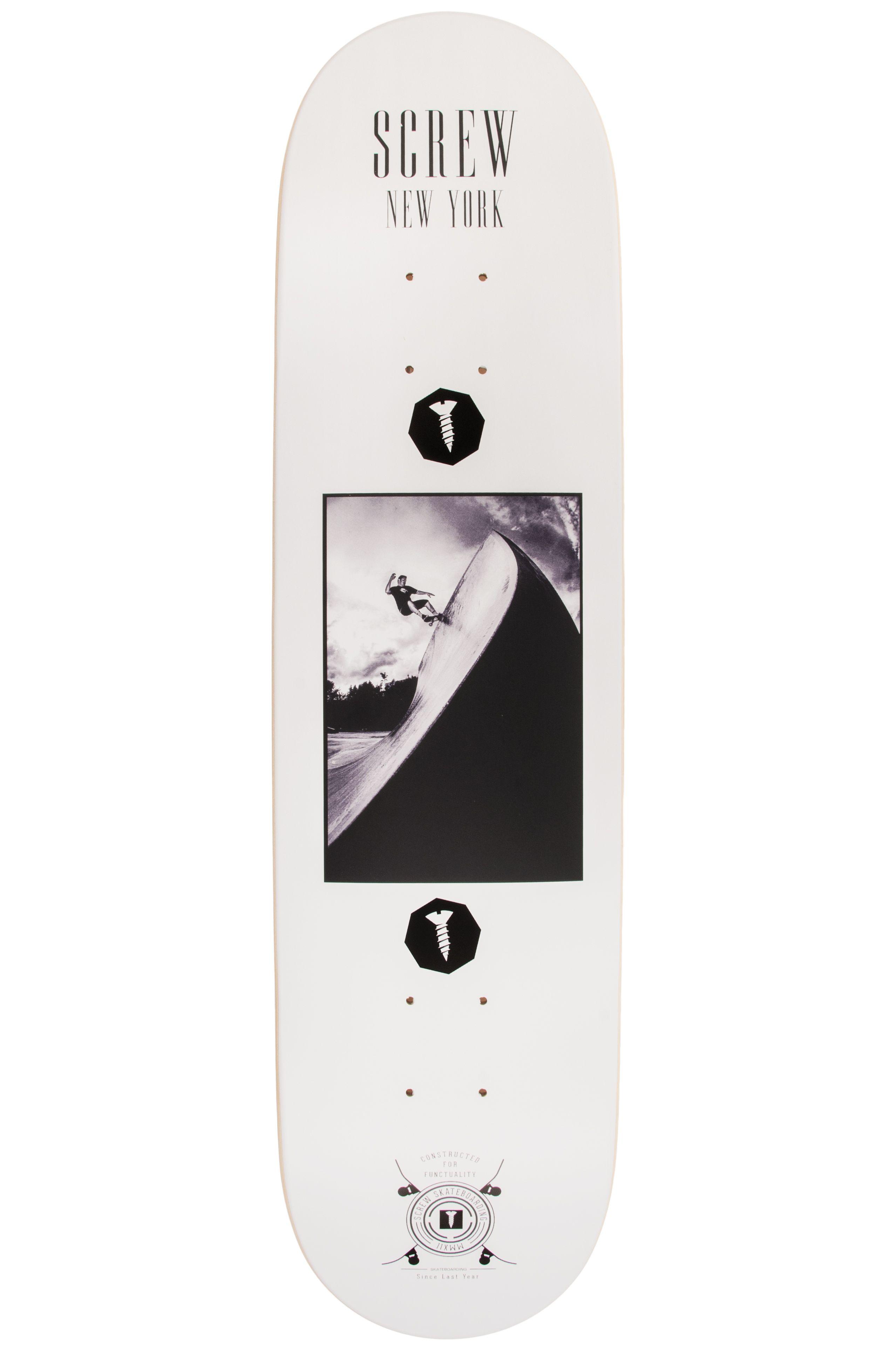 """Screw Skate Board 8"""" COLOR LINE #21 003 NY White"""