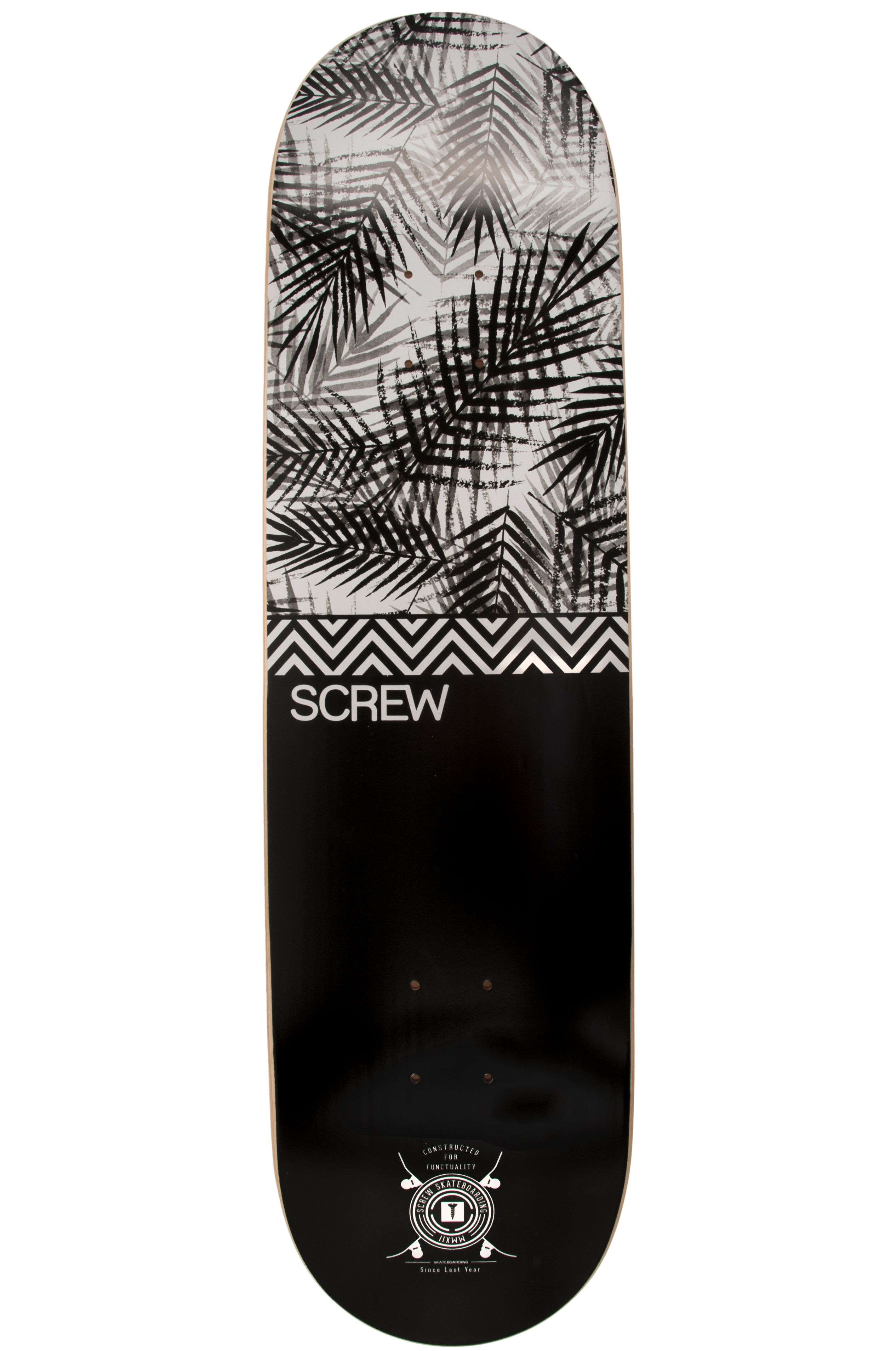 """Screw Skate Board 8.5"""" COLOR LINE #21 009 Black"""