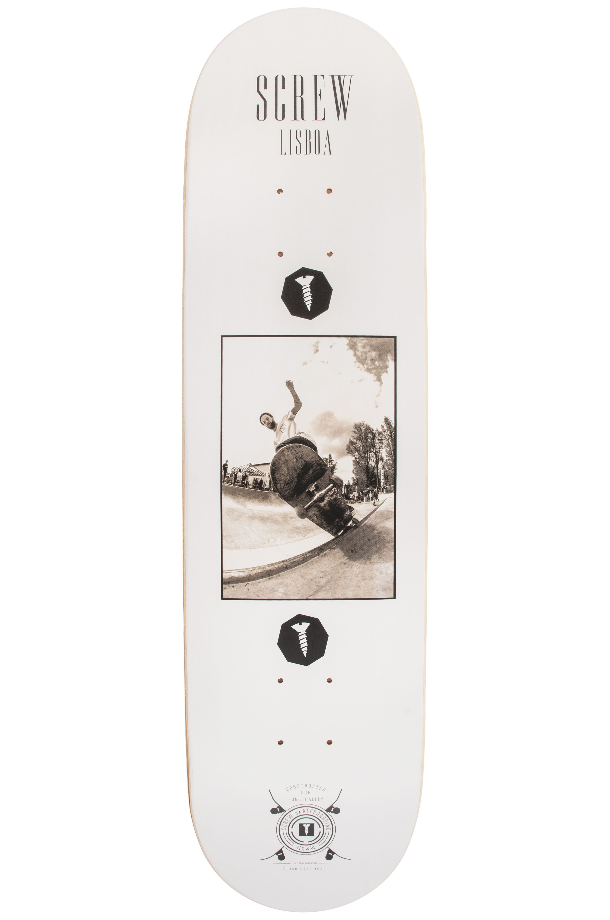 "Screw Skate Board 8"" COLOR LINE #21 003 LX White"