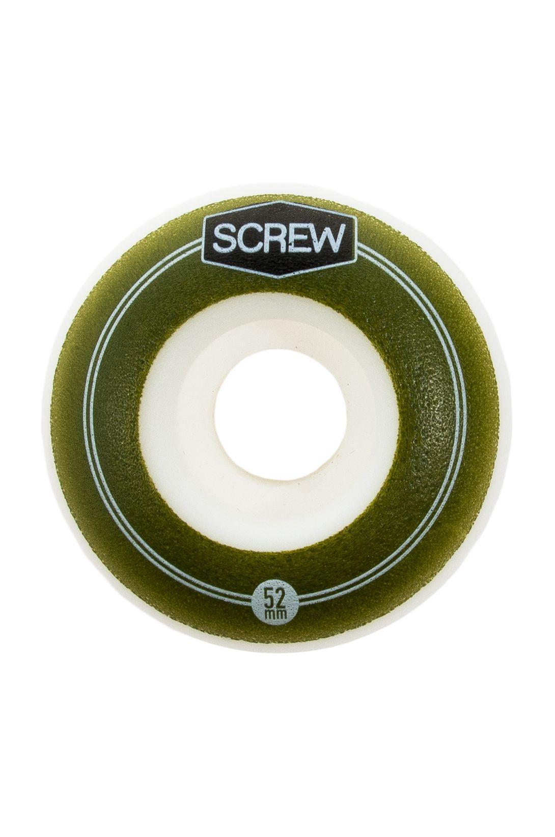 Screw Skate Wheels 52MM COLOR LINE #23 Green