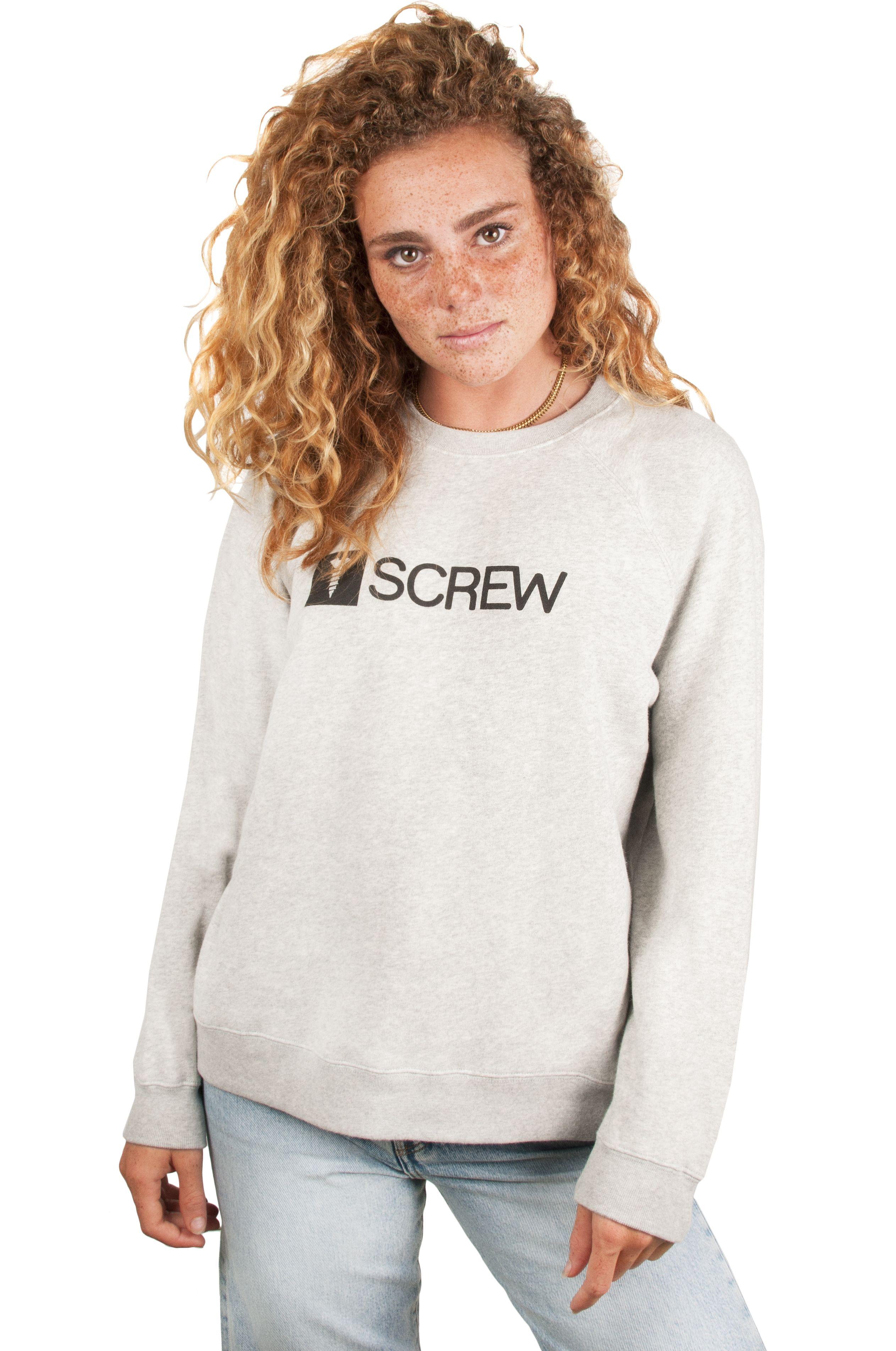Screw Crew Sweat SUPER LOGO RAGLAN Heather Grey