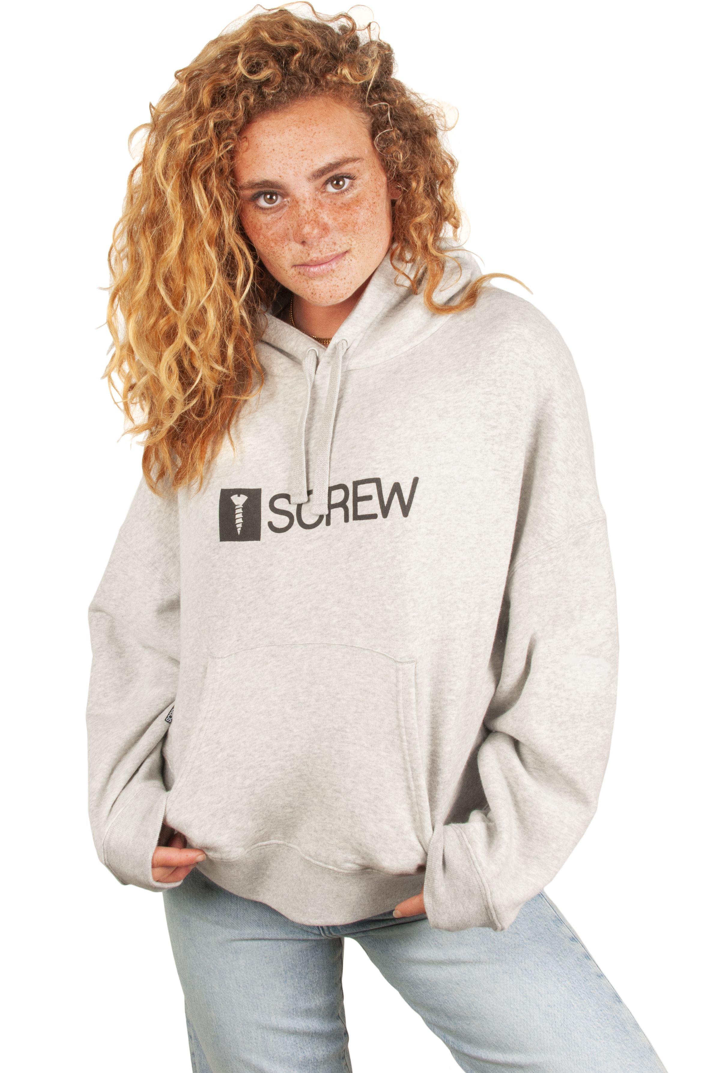 Screw Sweat Hood SUPER LOGO I BOLSO Heather Grey