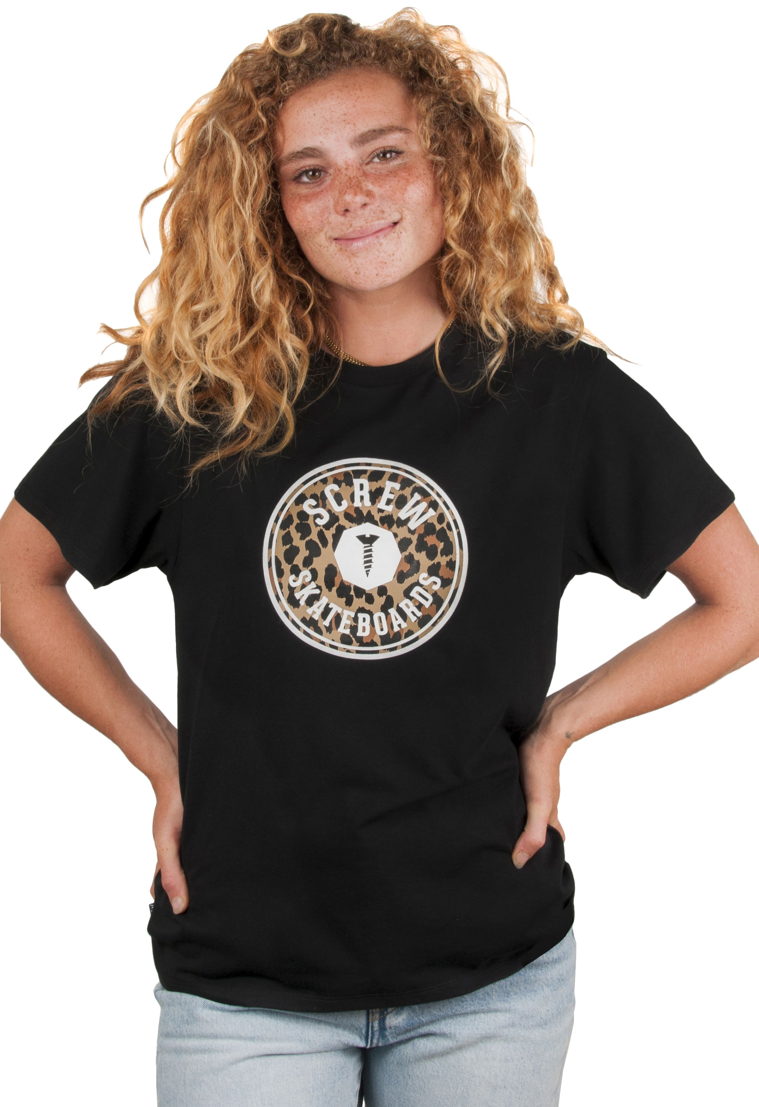 Screw T-Shirt SHOUT OUTLINE ANIMAL Black