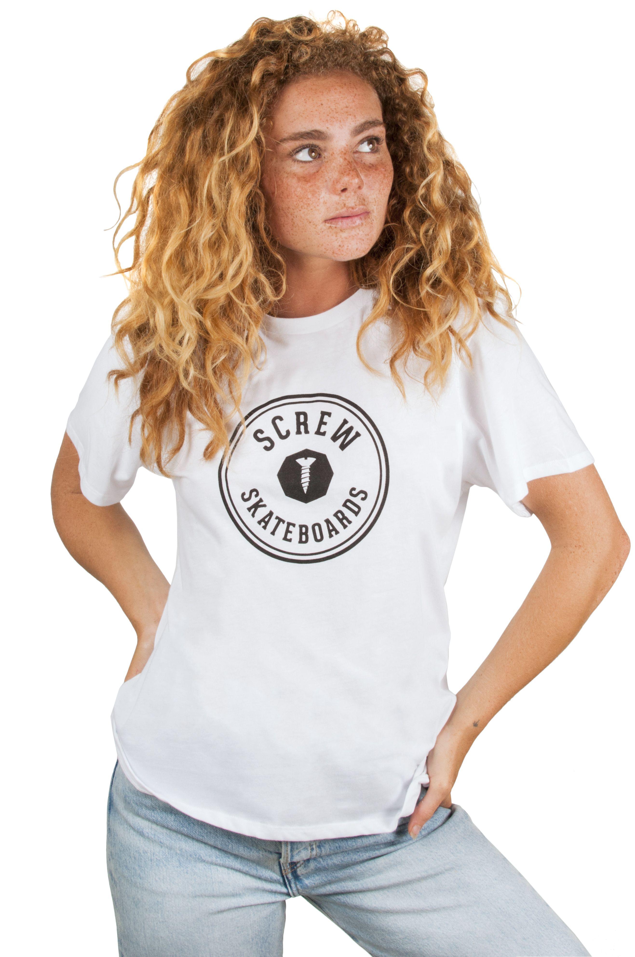Screw T-Shirt SHOUT OUTLINE White
