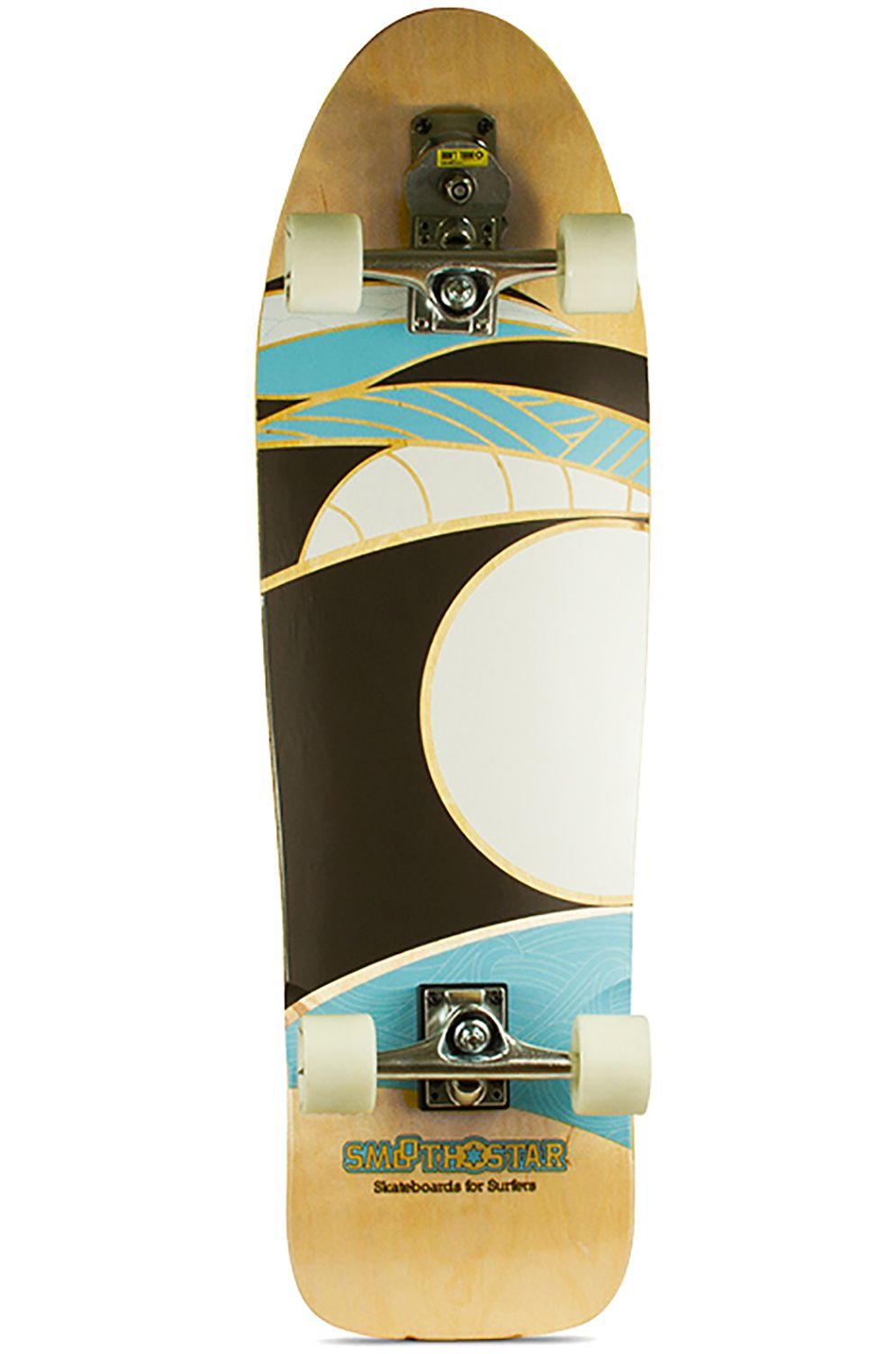 "Smoothstar Surf Skate 35.5"" MANTA RAY White/Grey"