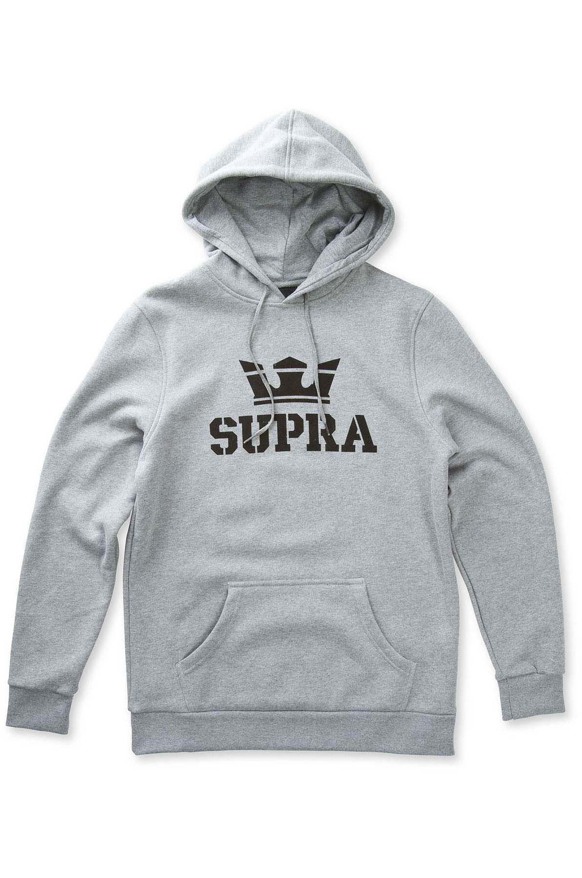 Supra Sweat Hood ABOVE Grey Heather/Black/Black