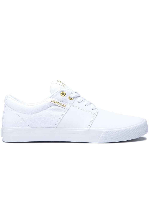 Tenis Supra STACKS VULC II White/Gold/White