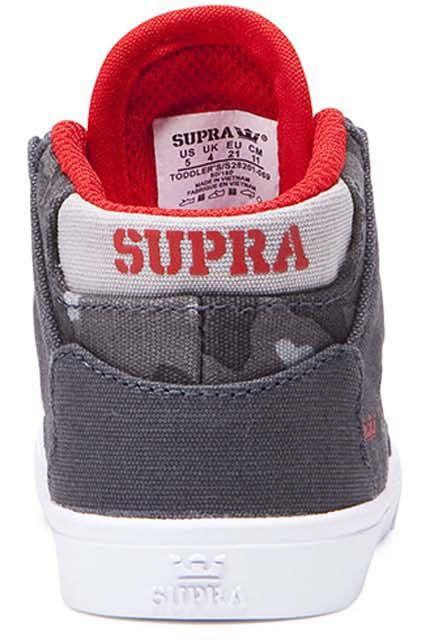 Supra Shoes VAIDER Dk Grey Camo/White