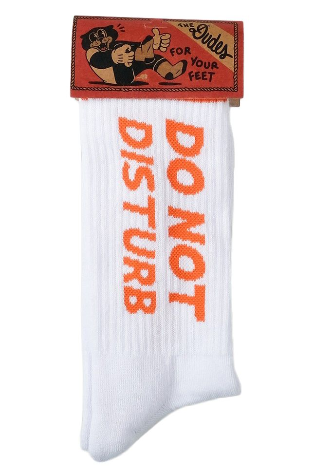 The Dudes Socks DO NOT DISTURB Off-White